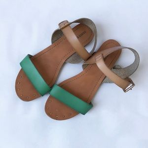 Mossimo Green and Tan Sandals